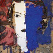 Retrato en Azul y Blanco