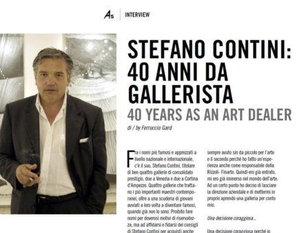 Cover ART STYLE 2015 - intervista Contini