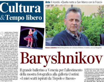 cover Baryshnikov Corriere Veneto del 14 maggio 2013 p. 13
