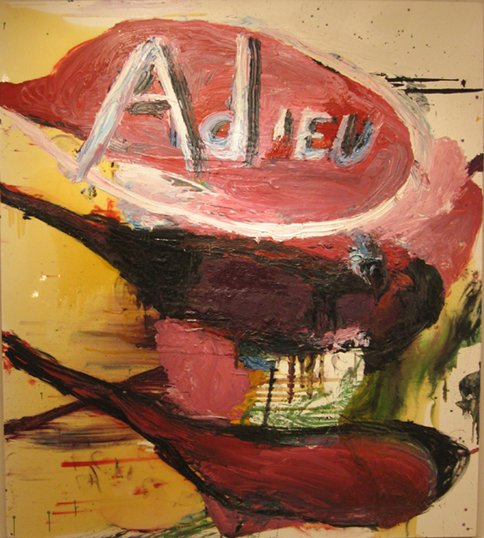 Julian Schnabel, Adieu, 1995, oil and resin on canvas, cm 274,3x243,8