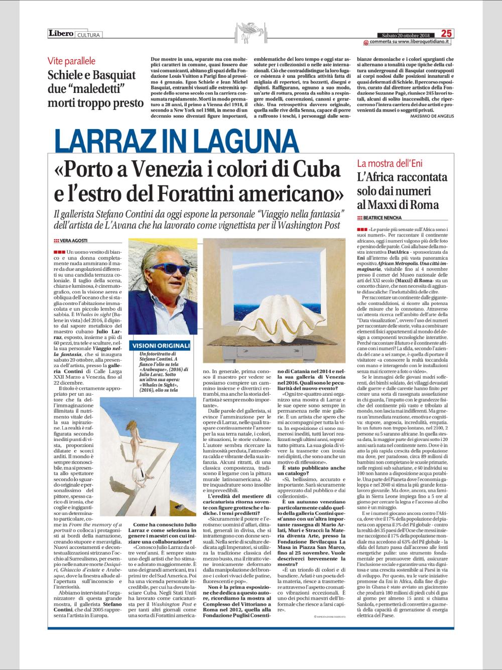 Due Due Cortina Srl.Julio Larraz Contini Art Modern Contemporary Art Gallery In
