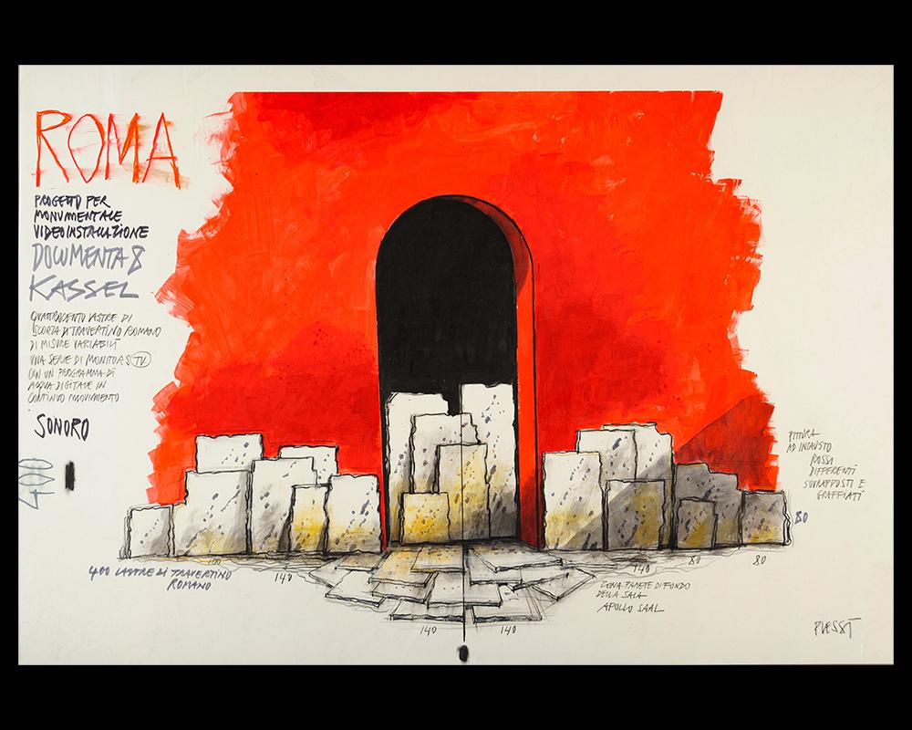 Roma, Progetto Monumentale Video Installazione 8 Kassel