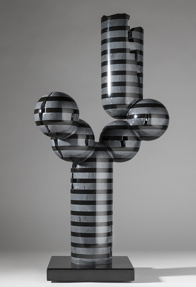 Simmetria - Combinazione, 2017,Marmo nero e grigio