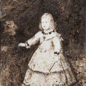 Appropriazione l'Infanta Margherita a tre anni con caraffa di fiori